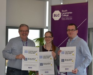 Nil by Mouth Campaign Director Dave Scott and SLC Principal Stewart McKillop joining students to help promote the campaign