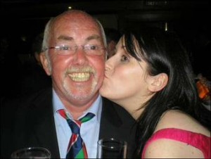 Broadcaster Annie McGuire Choose to snog Scottish football legend Chic Young!