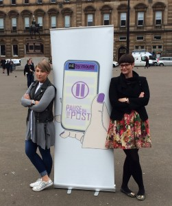 Nil by Mouth founder Cara Henderson helps City of Glasgow College student Danielle Harris launch the campaign