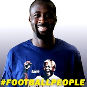 Top football stars such as Yaya Toure are backing the Football People campaign