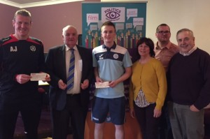Dave joins organisers of event and club representatives at the end of the event.