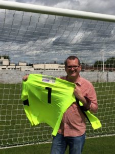 Dave launched the Gretna FC 2008 Goalie jersey with Nil by Mouth sponsoring