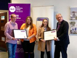 Students and staff at South Lanarkshire Council receive recognition for their efforts to raise awareness of sectarianism across the campus